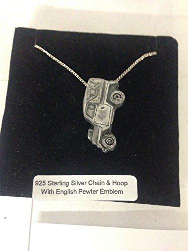4 x 4 Series 2 peso ligero ref113 emblema con efecto peltre en un auténtico collar de plata de ley 925 hecho a mano cadena de 45,7 cm con caja de regalo Prideindetails