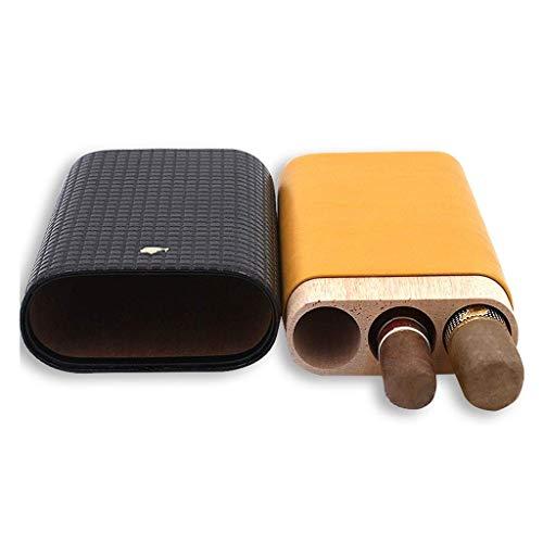 BXZ Lupe Hd Zigarrenschachtel, Leder Zedernholz Futter Drei Zigarren Lederschachtel Massivholz, Reise Tragbare Zigarettenetui, Herren Geschenk Lesehilfen