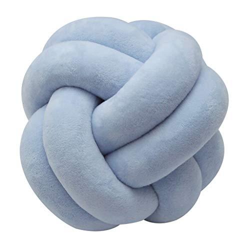 MagiDeal Soft Kid Ball Kissen Geknotet Kissen Spielzeug Bett Kissen Kissen Werfen - Blau