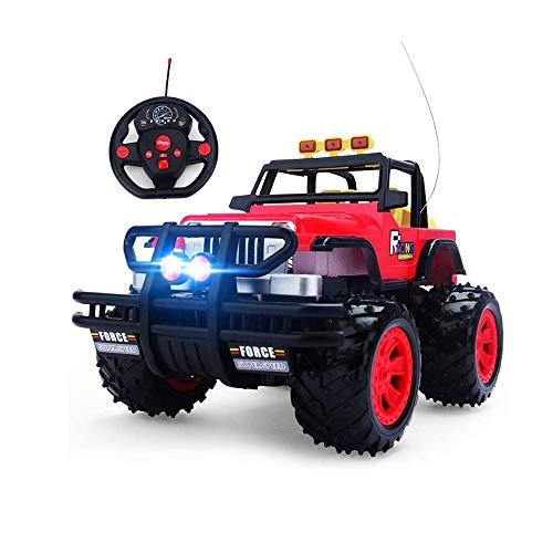 LRHD Juguetes educativos para niños para automóviles de control remoto y vehículos fuera de carretera Radio de alta velocidad Corrido de roca Crawler Rock Truck Monster Truck Juguete para 6 años de ed