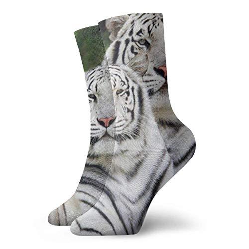Calcetines Casuales White Tiger Wildcat Zoo Animal Printed Sport Athletic Calcetines Calcetines de compresión...