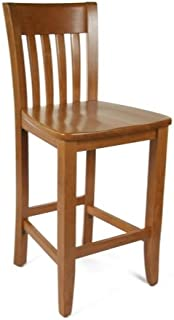 Beechwood Mountain BSD-34B24-C Solid Beech Wood Counter Stool in Cherry for Kitchen and dining