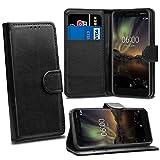 Nokia 6 2018 6.1 Cases - Black Premium Wallet Leather Flip