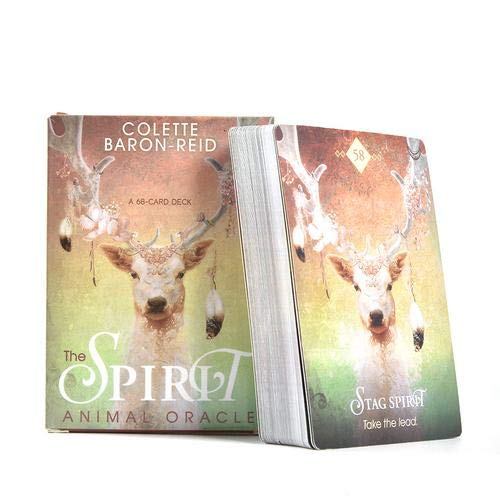 circulor 68 Pcs Cartas De Tarot, El Oráculo Animal Espíritu, Tarot D
