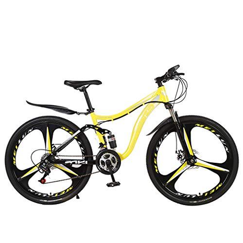 UNSKAM 26 Zoll Mountainbike Fahrrad Damen und Männer MTB Trekking Fahrrad Praktisches Cityräder 21 Gang-Schaltung Vollfederung Unisex Fahrrad für Outdoor Aktivitäten