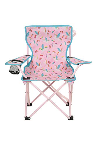 Mountain Warehouse Gemusterter Mini-Klappstuhl für Kinder - Campingstühle für Kinder, Leichter Picknickstuhl, strapazierfähiger Hocker - Für Picknicks, Strand, Garten Rosa Einheitsgröße