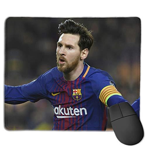 Football Li-On-EL Me-SSI Mausmatten für Schreibtisch Niedliches Design Mousepads mit Schreibtischdekor Waschbar PCs Laptops 25 x 30 cm für Konsolen Laptops