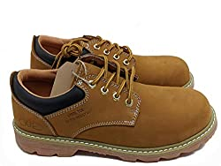 Jacata Men's Low-Cut Work Boots Water Resistant Boots Natural Rubber Blend Soles