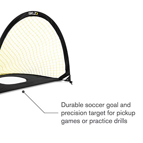 SKLZ 2-in-1 Precision Pop-Up Soccer Goal and Target Trainer 3 x 2 Feet (Precision Pop-Up Goal)