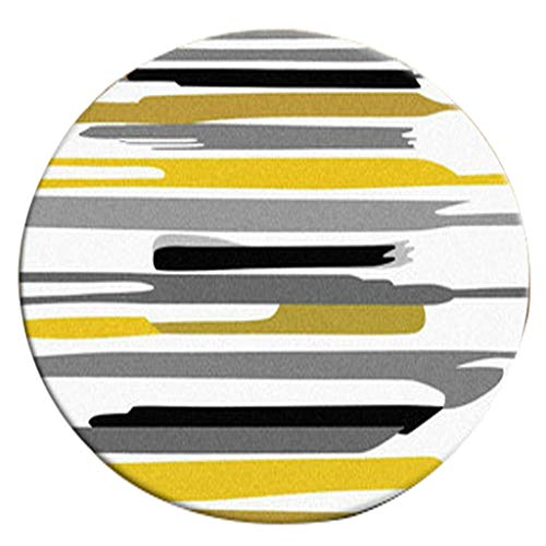 tapis rond jaune