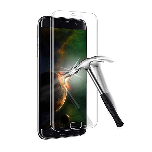 For Galaxy S7 edge ガラスフィルム ギャラクシー S7 edge sc-02h scv33 フィルム 専用 3D曲面 強化ガラス 全面保護フィルム 硬度9H 3D Touch対応 高透過率 指紋防止 気泡防止 自動吸着