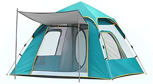 Ankon Tienda de tiendas de tiendas de cúpula compactas AUTOMÁTICA Pop Up Camping Tienda 4 persona con 2 puertas de malla y 3mesh Windows Tienda instantánea de Windows para caminatas al aire libre Moch