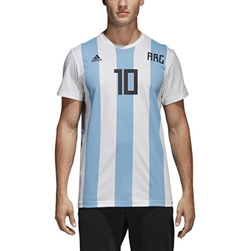 fdcd576e5 Amazon.com : adidas Adult Men's Soccer Messi Tee, White, X-Large ...