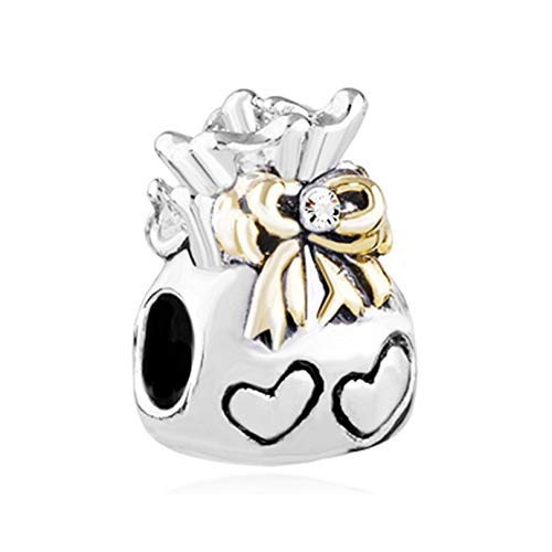 Pandora 925 Sterling Silver Pendant Mode-Sieraden Fai Da Te Charme Europese En Amerikaanse Stijl Wit Kristal Liefde Handtas Charm Kralen Fit Bracciale Ketting