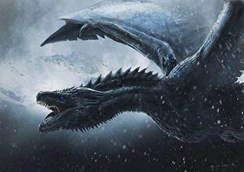 Desconocido Puzzle 1 000 Rompecabezas para Adultos El póster del dragón del Trono es difícil y difícil niños Adultos Juego Adultos y Adolescentes