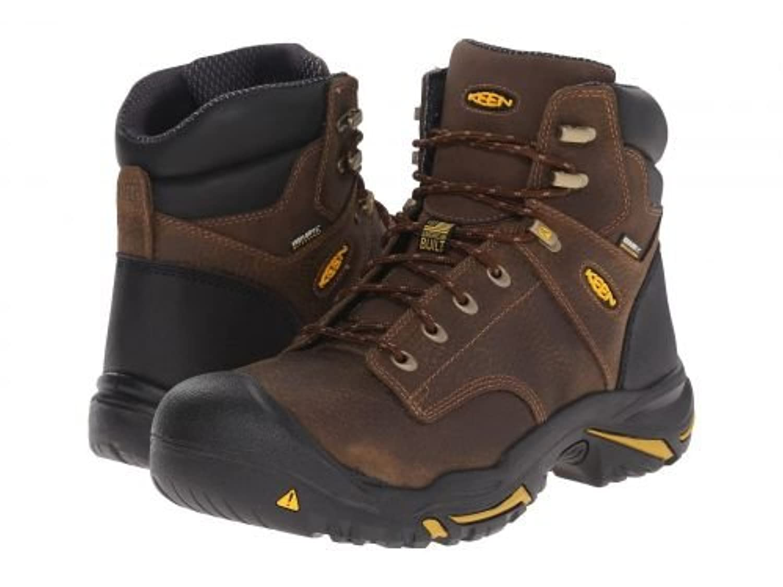 Keen Utility(キーン) メンズ 男性用 シューズ 靴 ブーツ 安全靴 ワーカーブーツ MT Vernon Mid Soft Toe - Cascade Brown [並行輸入品]