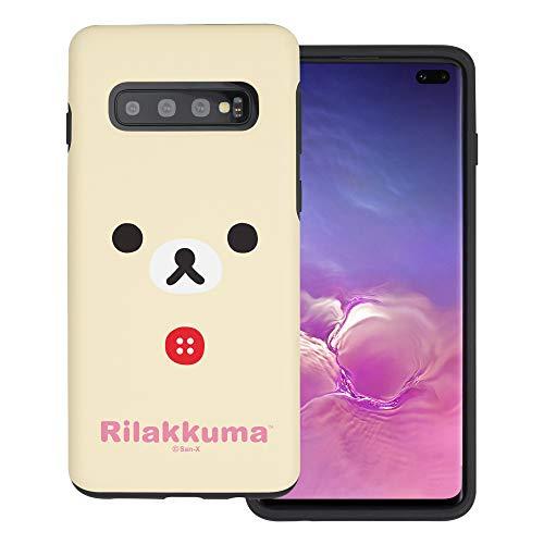 Compatible with Galaxy S10 Case (6.1inch) Rilakkuma Layered Hybrid [TPU + PC] Bumper Cover - Face Korilakkuma