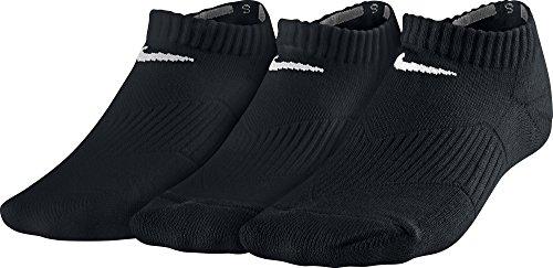 Nike 3P YTH CTN CUSH NO SHOW W/ MOI - Chaussettes pour enfants - Multicolore - (Noir/Blanc) -30-34 EU