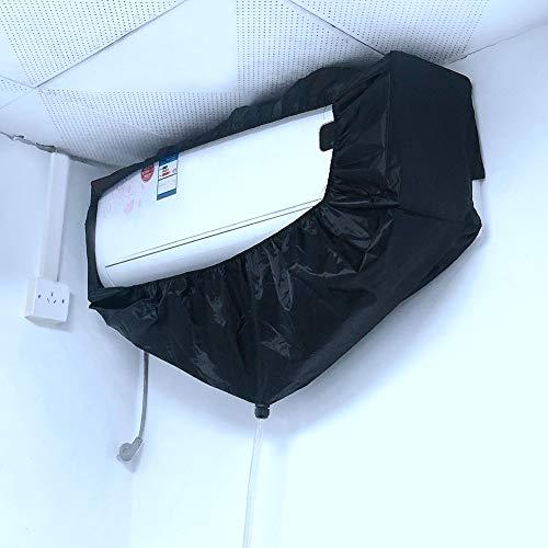 Aire Impermeable Polvo, Negro Aire Acondicionado Bolsa de Limpieza Aire Acondicionado de Pared Impermeable Lavado de Polvo Bolsa Limpia Protectora