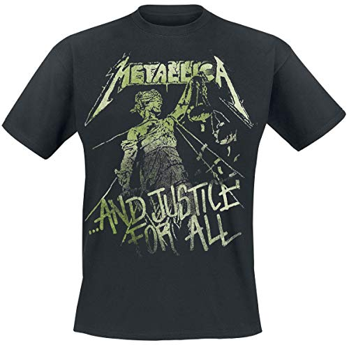 Metallica and Justice For All - Vintage Camiseta Negro