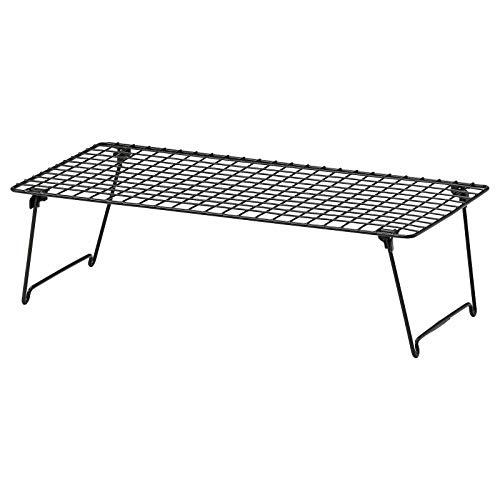IKEA GREJIG - Zapatero de acero plegable, apilable, duradero, estante para zapatos, 58 x 27 cm
