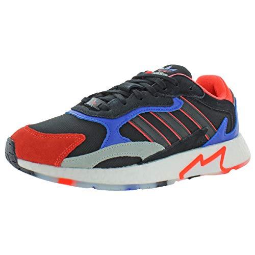adidas Men's TRESC Run Low Shoes CBLACK,Solred,HIRBLU Size 8.5