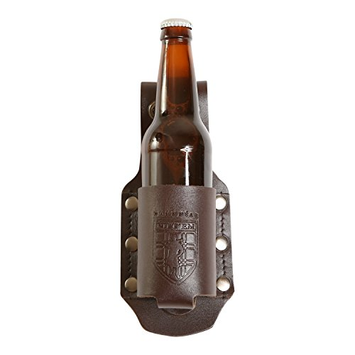 Damn Near Kilt 'Em Premium Brown Leather XL Bottle Holder Kilt Accessory