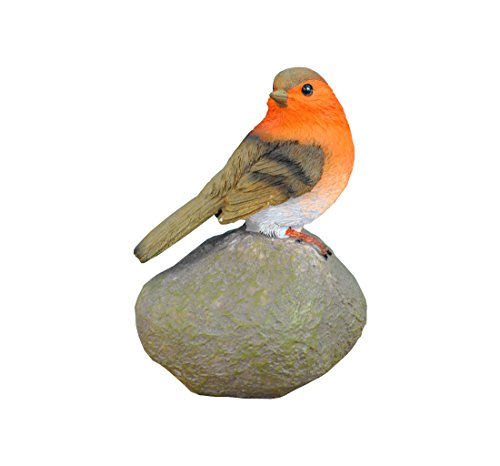 Selections Robin on a Stone Resin Garden Ornament
