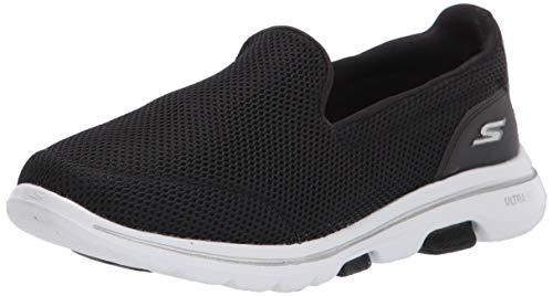 Skechers Performance Go Walk 5, Zapatillas Mujer, Negro (BKW Black Textile/Trim), 38 EU