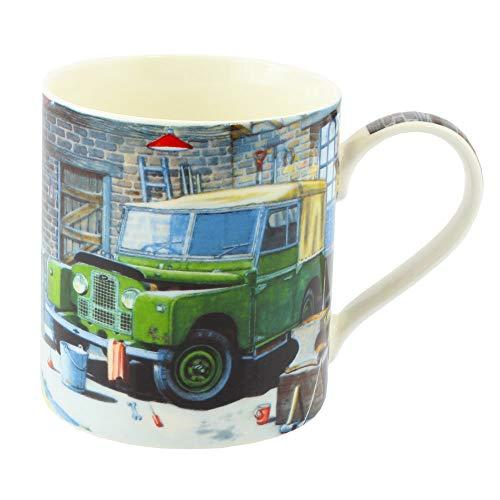 Leonardo Classic Green Land Rover Fine Art Aquarelle en Porcelaine Fine Mug