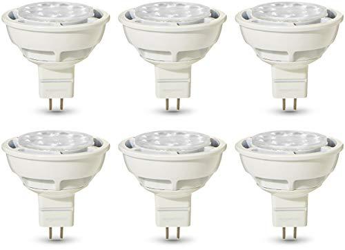 AmazonBasics Professional - LED-Leuchtmittel, GU5.3-Spot, MR16, entspricht 50-Watt-Birne, Warmweiß, dimmbar, 6 Stück