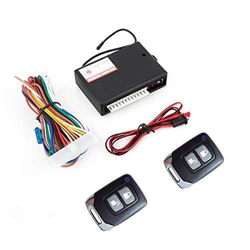 Nihlsen Universal 12 V cerradura de puerta de coche vehículo sin llave sistema de entrada auto remoto kit central con caja de control negro