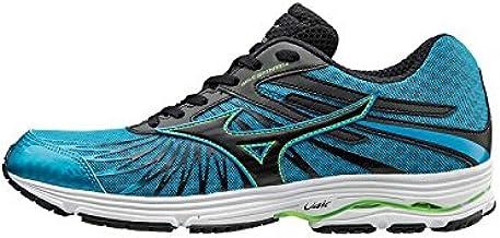 MIZUNO J1GC163010 أحذية جري ويف سايونارا للرجال،أزرق/أسود