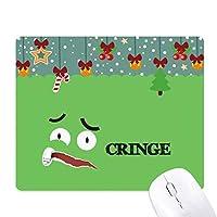 怖い緑の恐怖感情 ゲーム用スライドゴムのマウスパッドクリスマス
