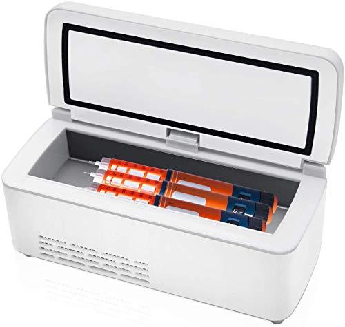 MQJ A2 175X56X26Mm 33 Hora Insulina Caja de Insulina Termostato Termostato Reefer Coche Portátil Refrigeradores Funda Refrigerador O Viaje Coche Doméstico Menos de 35 ℃ con Hot Cool Dual Control Dc P