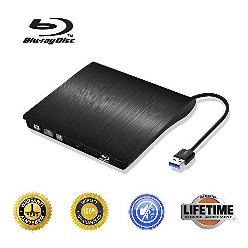 External Blu Ray CD Drive USB 3.0 3D Blu-ray DVD Player Portable DVD CD Burner/Writer/Reader BD-ROM for PC Computer Notebook (Pink)