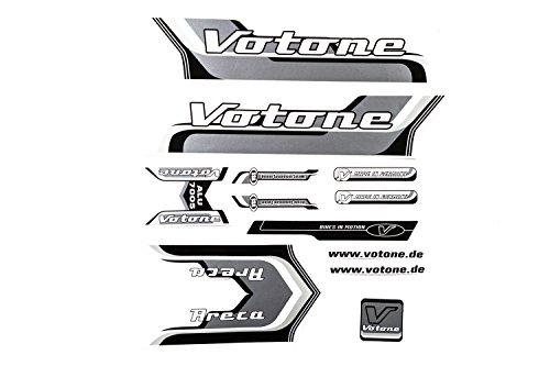 Fahrrad Dekor Satz Aufkleber Rahmen Frame Decal Sticker Votone Label Grau