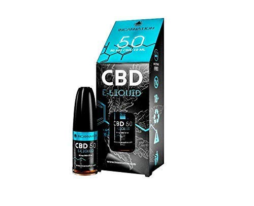 CBD Cannabidiol Cannabis Liquid E-Zigarette, E-Shisha 50mg auf 10ml original ICE Hybrid