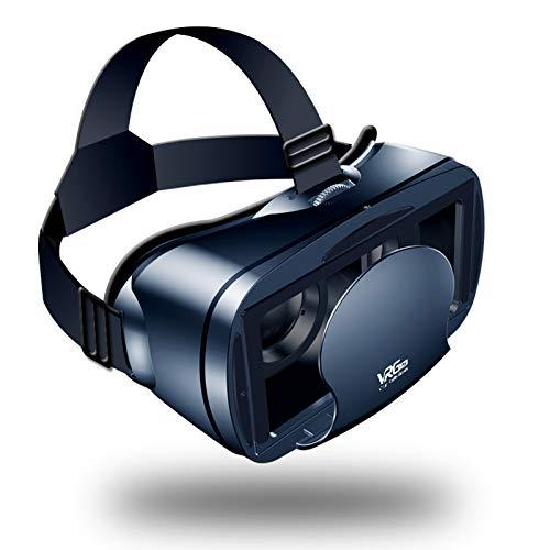 YQY Auriculares VR, Auriculares de Realidad Virtual, Gafas VR, Gafas VR para Videojuegos de películas de VR 3D con 5 a 7 en Pantalla, Adecuado para miopía