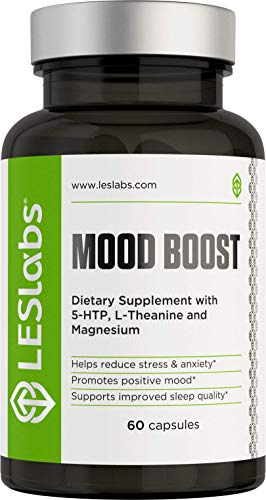 Les Labs Mood Boost, Anxiety Relief Supplement, Stress Relief, Mood Enhancer &Amp; Sleep Aid With 5-Htp, Ashwagandha, Rhodiola Rosea &Amp; Gaba, 60 Capsules