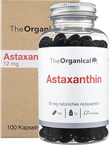 NEU: TheOrganical® Astaxanthin 12 mg (+ Vitamin E) | 100 hochdosierte Kapseln | Hergestellt in Hamburg | Laborgeprüft | 100{4a03c1c263d89a5486a2a549116f54b4d1bb4f2ef497734c67fe62ed05996f00} natürlich | Ohne Zusätze | Volle Wirkung | Astaxanthin hochdosiert |