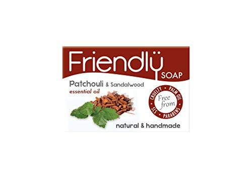 Friendly Soap Handgefertigte Seife, Patchouli und Sandelholz, 6 Stück