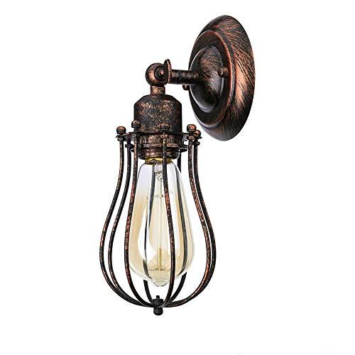 Industriële Wandlamp, Creatieve Roestkleurige Verstelbare Smeedijzeren Wandlamp, Geschikt Voor Het Versieren Van Slaapkamers, Trappen, Restaurants (zonder Lichtbron)