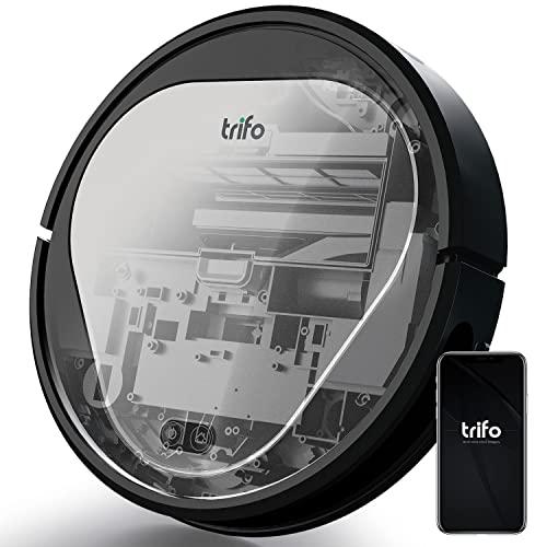 Saugroboter Trifo, 3000Pa Starke Saugleistung, Automatische Aufladung, Roboterstaubsauger Ideal für Tierhaare, Hartböden, Teppich, 6 Anti-Sturz-Sensoren, App-Fernbedienung, Alexa Google Home Verbunden