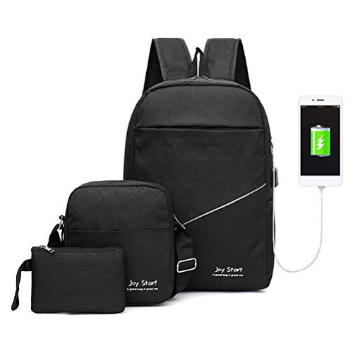 Vaughen Travel Laptop Backpack,15.6-17.3 Inch Business Travel Backpack Bag with Lock with USB Charging & Headphone Port, Water Resistant College School Computer Rucksack Work Backpack for Mens Womens