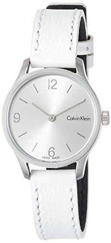 Calvin Klein Damen Analog Quarz Uhr mit Leder Armband K7V231L6