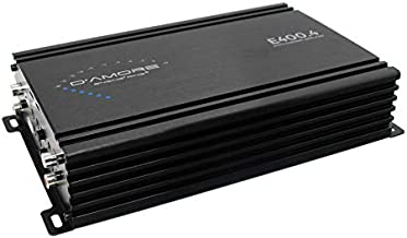 E400.4 High Efficiency 4 Channel Car Amplifier w/Clean D Technology - Full Range 4, 3 or 2 Channel Amplifier, 2 ohm Stable, Built in crossovers