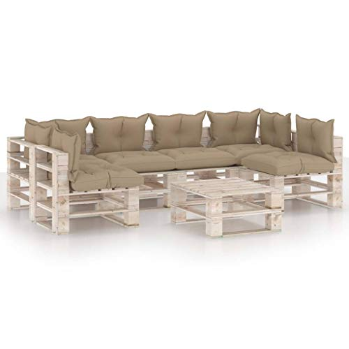 vidaXL Garden Pallet Table Impregnated Pinewood
