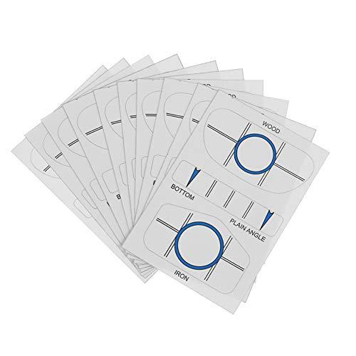 vanpower 10Sets Golf Impact Tapes Etiketten-Recorder für Woods Eisen und Putter