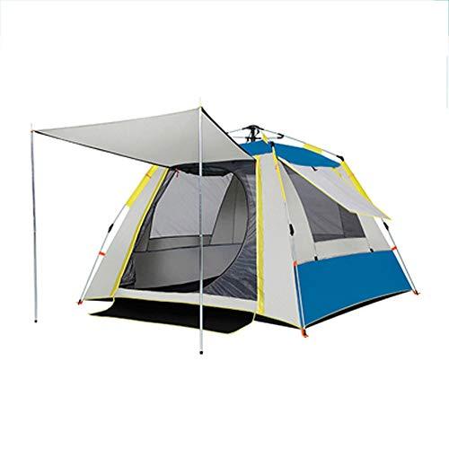 Tienda de Campaña Outdoor Pop Up, Tienda de Campaña Instantánea para 2-4 Personas, Impermeable Tienda Iglú Familiar, para Camping, Senderismo, Picnic (Blue/1,200 * 150 * 135cm)